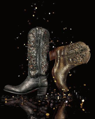 Frye Deborah Studded Vintage Leather Boot, Gray