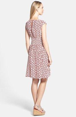 Kate Spade 'blaire' Silk Blend Fit & Flare Dress
