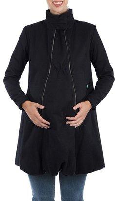 Women's Modern Eternity A-Line Convertible Maternity Swing Coat $225 thestylecure.com