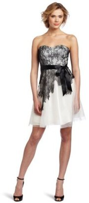 Max & Cleo Women's Cynthia Lace and Tulle Dress