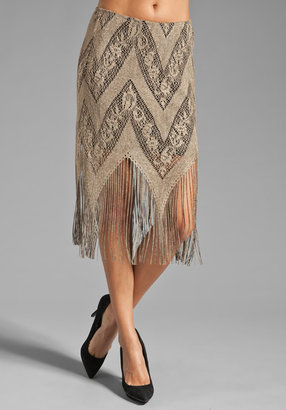 Only Hearts Club Lady Day Lined Fringe Skirt