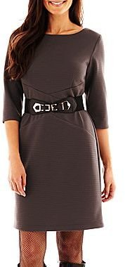 JCPenney Alyx® Spliced Belted Dress - Petite