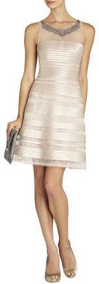 BCBGMAXAZRIA Morgane Embellished-Yoke Dress