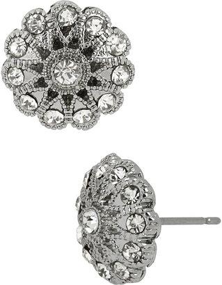 Betsey Johnson Stone Pearl Crystal Flower Stud