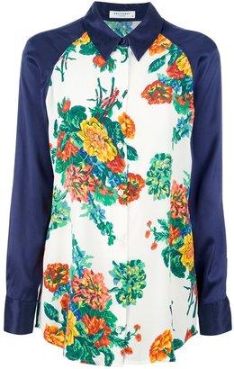 Equipment floral print long sleeve shirt