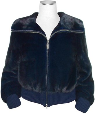 Forzieri Ultimate Luxury Collection Blue Mink Fur Bomber Jacket