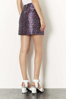 Camo Jacquard Pelmet Skirt