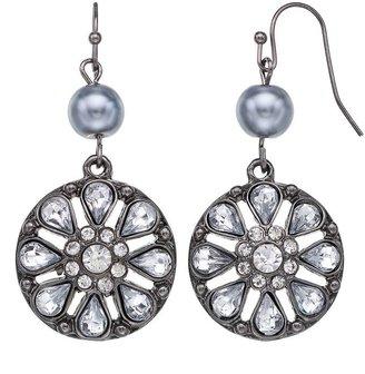 Vera Wang Simply vera flower drop earrings