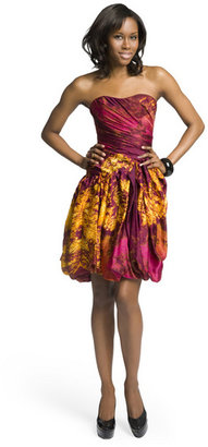 Christian Siriano Volcano Print Dress