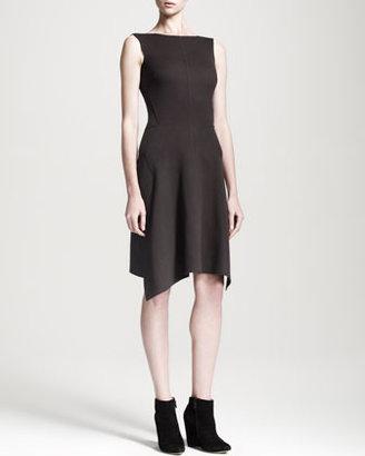 Jil Sander Picking Asymmetric-Hem Dress