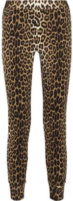 3.1 Phillip Lim Leopard-print cotton-jersey track pants