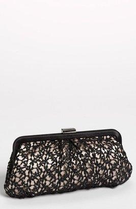 Menbur 'Crochet Floral' Clutch - Black $95 thestylecure.com