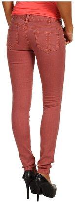 Free People Colored Skinny Jean in Maroon (Maroon) - Apparel