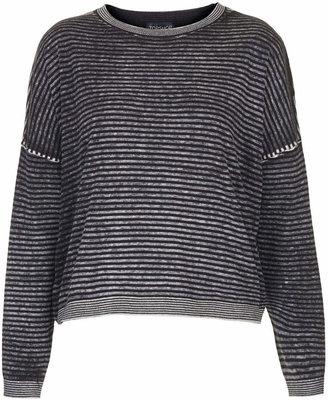 Topshop Printed stripe jumper