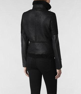 AllSaints Coel Leather Biker Jacket
