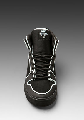 Supra Vaider in Black Satin/Neoprene with Reflective Piping
