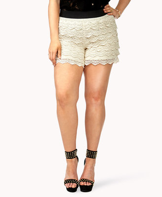 Forever 21 FOREVER 21+ Crochet Lace Shorts