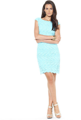 Lauren Ralph Lauren Cap-Sleeve Crocheted Lace Dress