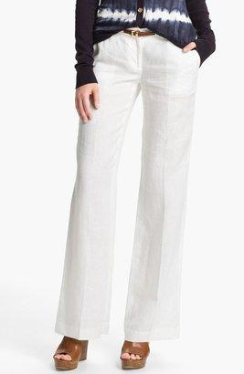 MICHAEL Michael Kors Wide Leg Linen Pants