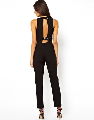 Asos Jumpsuit with Buckle Back Detail - Black