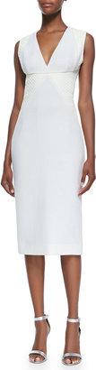 Cushnie et Ochs Sleeveless Batik-Panel Dress