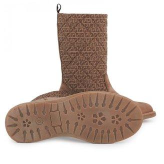 Fendi Suede Logo Boots