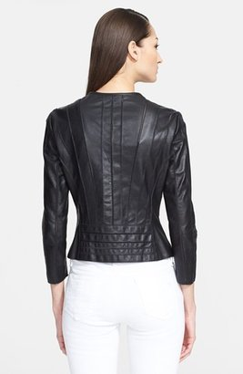 Versace Seamed Leather Jacket
