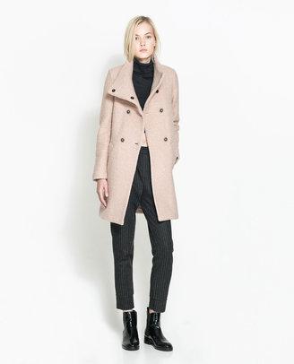 Zara Long Pink Coat