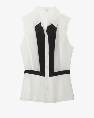 Intermix Exclusive For Colorblock Sleeveless Blouse