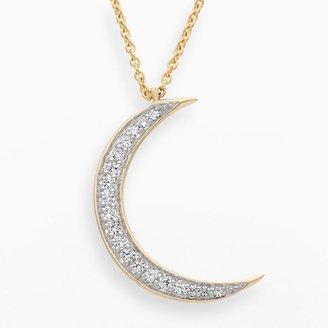 JLO by Jennifer Lopez Jlove by 10k gold 1/10-ct. t.w. diamond moon pendant