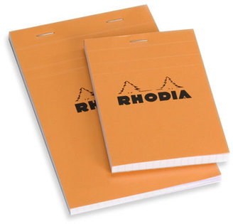 Container Store Small Rhodia® Notepad Orange