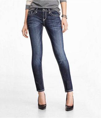 Rerock Super Thick Stitch Skinny Leg Jean