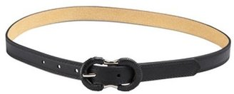Fashion Focus black faux leather skinny belt