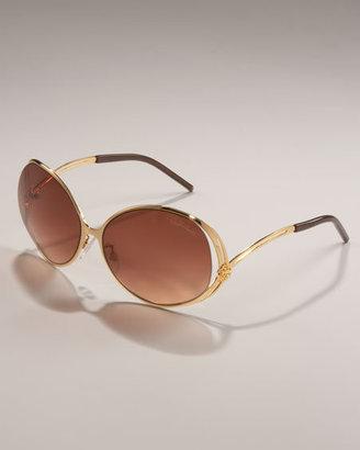 Roberto Cavalli Round Metal Sunglasses