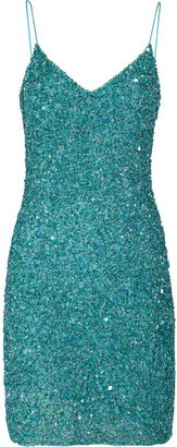 Theia Sequined tulle dress