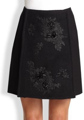 Erdem Arietta Beaded Wrap Skirt