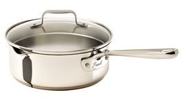Emerilware Emeril from All-Clad Wide/Shallow Sauce and Saute Pan with Pouring Spout and Straining Lid