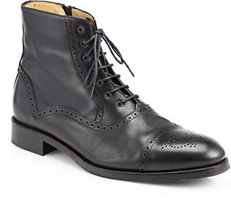 Saks Fifth Avenue Collection Tristan Captoe Lace-Up Boots
