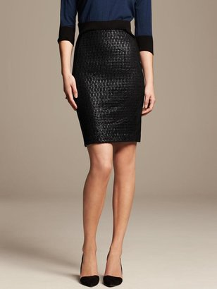 Roland Mouret Collection Lace Panel Pencil Skirt