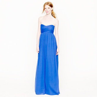 J.Crew Petite Taryn long dress in silk chiffon