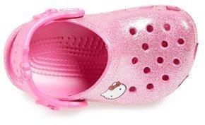 Hello Kitty CROCS™ 'Hello Kitty® - Glitter' Sandal (Walker, Toddler & Little Kid)
