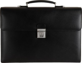 Serapian Men's Evolution Briefcase-Black