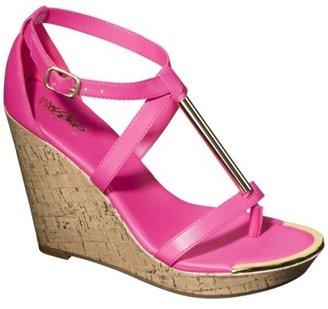 Mossimo Women's Pembroke Wedge Sandal - Pink