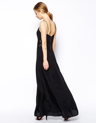 Asos Maxi Dress With Lace Inserts
