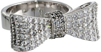King Baby Studio - Baby Bow Ring Pave Cz  Ring $280 thestylecure.com