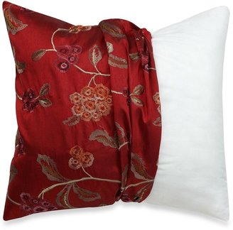 Bed Bath & Beyond MYOP Covent Gardens 20-Inch Square Toss Pillow Cover in Red/Gold