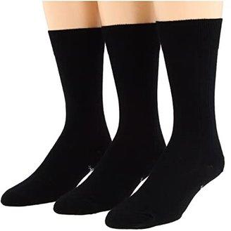 Smartwool City Slicker 3-Pair Pack (Black1) Men's Crew Cut Socks Shoes