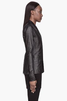 Rick Owens Metallic black long Blazer