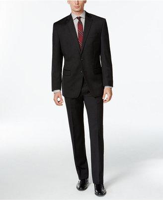 Calvin Klein Charcoal Solid Classic-Fit Suit $650 thestylecure.com