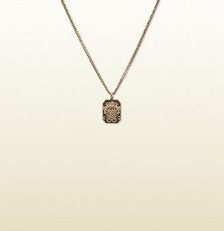 Gucci Vintage Crest Necklace